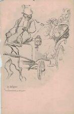 Artist signed ADOLPHE WILLETTE Le Collignon Circa 1900 PC CPA