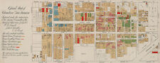 "1885 LARGE 16""x41"" Map of Chinatown in San Francisco Genealogy Art Poster Decor"