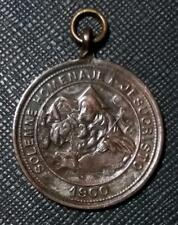 1900 ARGENTINA - SOLEMN TRIBUTE to JESUS CHRIST - RARE RELIGIOUS MEDAL by ORZALI