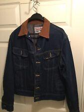 Vtg Lee Storm Rider Cowboy Jacket 40R Mens Denim Jean Blanket Lined USA Union