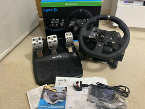 Logitech G920 UK Plug Driving Force Racing Wheel for Xbox One PC Thrustmaster tx