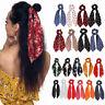 Women Boho Print Hair Scrunchie Ponytail Holder Hair Tie Rope Elastic Hair Band.