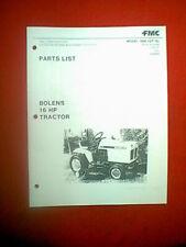 BOLENS TRACTOR MODEL 1666 QT16 PARTS MANUAL DATED 2/74