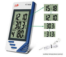 DIGITAL LCD THERMOMETER HYGROMETER HYDROPONICS PLANT GROW ROOM/TENT THERMOMETER