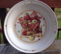 Marjolein Bastin Ceramic Pie Plate Basket of Apples Design Excellent Condition