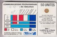 VARIETE TELECARTE CORDON BLANC .. 50U Ko58 SC4OB V° 6 N° IMP.712??3 DEFORME C.?€