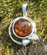 Anhänger Silber 925 Amber Helix Tear of the Gods Stone Zodiac Signs Bull