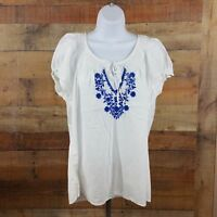 Izod Top Womens Size XL White 100% Cotton CC14