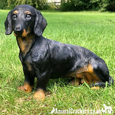 More details for large heavy sitting dachshund ornament figurine sausage dog lover gift memorial