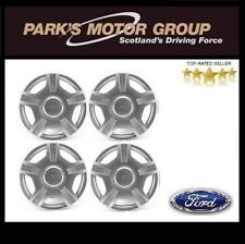 "Genuine New Ford Fiesta 14"" Inch Wheel Trim Set of 4 Silver 5 Spoke - 1224711"