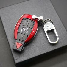Red Benz Car Remote Key Case Holder Shell Protect Housing Cover Decoration Gift