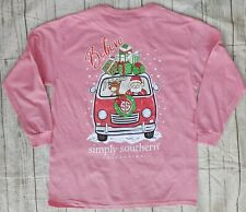 "NWT Simply Southern ""Believe"" Christmas YOUTH Sz MEDIUM Long Sleeve Tee- READ AD"
