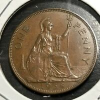 1938 GREAT BRITAIN ONE PENNY HIGH GRADE BEAUTY
