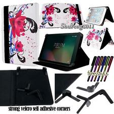 """Folio Stand Leather Cover Case For Sprint Slate 8"""" (AQT80) / 10"""" (AQT100) Tablet"""