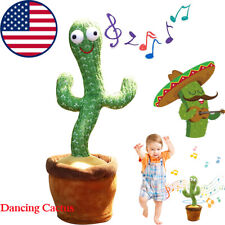 Dancing Cactus Plush Toy Electronic Shake with Song Dance Succulent Kids Gifts