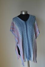 NEW AUTHENTIC MISSONI  Tasselled WOOL MIX  PONCHO / Throw  Made in Italy
