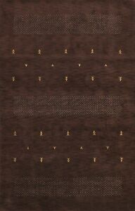 Abstract Contemporary Hand-knotted Modern Gabbeh Oriental Area Rug Wool 7x10 ft
