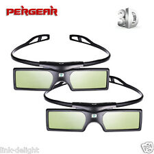 2 pcs G15-DLP 3D Active Shutter Glasses for DLP-LINK Optoma Sharp NEC Projector
