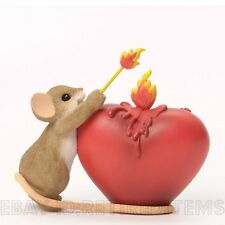 You've Lit A Fire In My Heart Charming Tails Mouse Figurine Valentines Day Gift