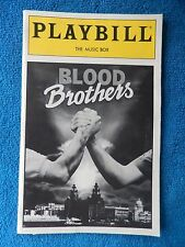 Blood Brothers - Music Box Playbill w/Ticket - August 6th, 1993 - Lawrence