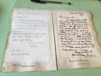 The late Bishop Low 1851 & Bishop of Glasgow 1875   letters Ref 50972