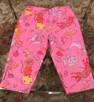 Lilly Pulitzer Girls size 5 Pink Circus Animals Capri Pants