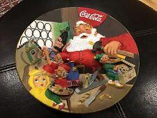 Vintage 1994 Santa Coca Cola Workshop Hand Crafted Franklin Mint Plate