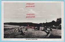 Nice beach scene, Colwyn Bay. Photographic card dated 1920