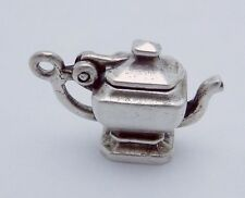 Vintage Sterling Silver Moveable Teapot Coffee Pot Charm Pendant 22886