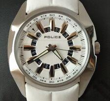 Reloj POLICE WATCH 30% off. Esfera y correa blanca.