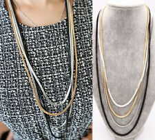 Fashion Women Long Sweater Chains Necklace Pendent Jewelry Dress Accessory New
