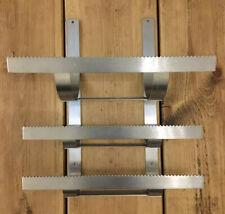 Industrial Chrome metal Saw kitchen Home storage rack display Organiser Rare