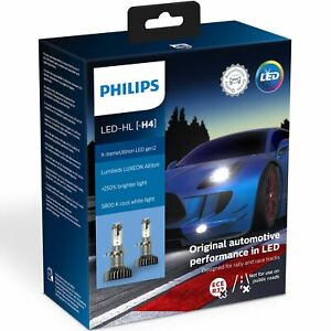PHILIPS H4 LED Headlight Bulbs 11342XUWX2 X-tremeUltinon Gen2 Twin