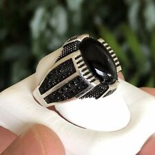 Onyx  Ring Sterling Silver .925 Turkish Design Size 10