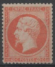 "FRANCE STAMP TIMBRE N° 23 "" NAPOLEON III 40c ORANGE 1862 "" NEUF A VOIR N488"