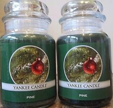 Lot of 2 Yankee Candle  NEW   Pine  Holiday     22 oz.   Free Shipping SALE!!!