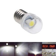 1 x E10 LED Screw Base Indicator Bulb Cold White 6V DC Illumination Lamp Light