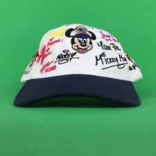 Disney Cruise Lines Mickey Mouse & Friends Signed Baseball Cap Hat Adj. Youth