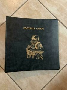 "CLEAN/USED 2"" FOOTBALL CARD BINDER BLACK W/45 ULTRA PRO PLATINUM 9 POCKET PAGES"