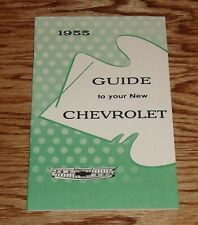 1955 Chevrolet Passenger Car Owners Operators Manual 55 Chevy