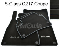 Floor Mats For Mercedes-Benz S Coupe C217 With AMG Logo & NEW Color Variations