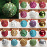 Christmas Rhinestone Glitter Baubles Balls Xmas Tree Ornament Decoration 80MM TS