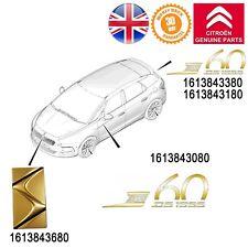CITROEN DS5 décor Golder étiquettes badge & Celebrating 60 Years GENUINE NEW LIMITED