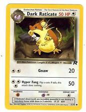 Pokemon Team Rocket Dark Raticate Common 51/82 - NearMint
