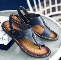 Men's Casual Flats Flip Flops Open Toe Sandals Slippers Slingbacks Beach Summer