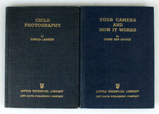 SET OF 2 LITTLE TECHNICAL LIBRARY BOOKS ON PHOTOGRAPHY 1939