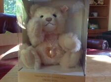 Swarovski Jewels the Steiff Teddy Bear. New in Box with heart crystal.
