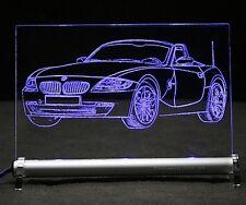 Autogravur mit BMW Z4  Roadster auf LED Schild - Leuchtschild