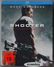 """SHOOTER"" - Mark Wahlberg, Danny Glover - Action Cult - Rare BLU RAY STEELBOOK"