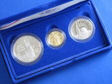 1986-S Statue Of Liberty Commemorative Gold Silver Set B3051